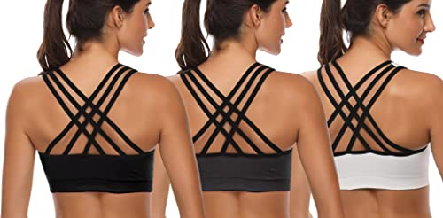 Padded Strappy Sports Bras for Women