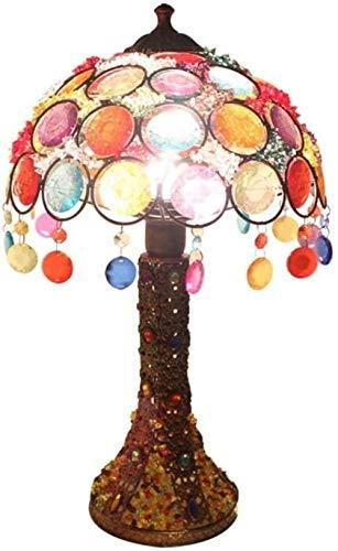 Lámparas de mesa de estilo antiguo con vitrales para novia, sala de estar, dormitorio para niños, mesita de noche, mesa de centro