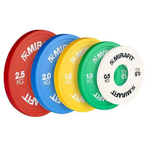 Mirafit IWF Coloured Fractional Weight Change Plates - Yellow - 2 x 1.5kg