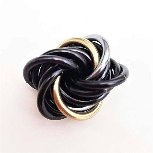 Mobii (Small, Multicolor): Fidget Mobius Toy, Anxiety Relief Stress Ring, Pocket Restless Hand Ball, Office Toy (Eclipse)