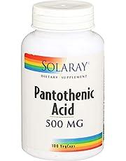 Solaray Pantothenic Acid 500mg | Ácido Pantoténico | 100 VegCaps