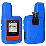 TUSITA Case for Garmin inReach Mini - Silicone Protective Cover - Handheld Satellite Communicator Accessories (Blue)