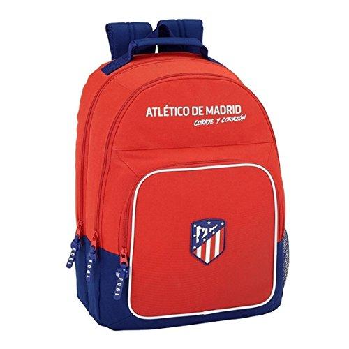 "Safta Mochila Atlético De Madrid ""Coraje"" Oficial Mochila Escolar, 320x160x420mm"