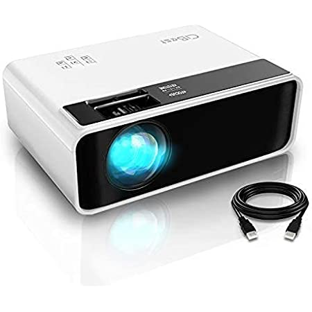 "Mini Projector, CiBest Video Projector Outdoor Movie Projector 4500L, LED Portable Home Theater Projector 1080P and 200"" Supported, Compatible with PS4, PC via HDMI, VGA, TF, AV and USB…"