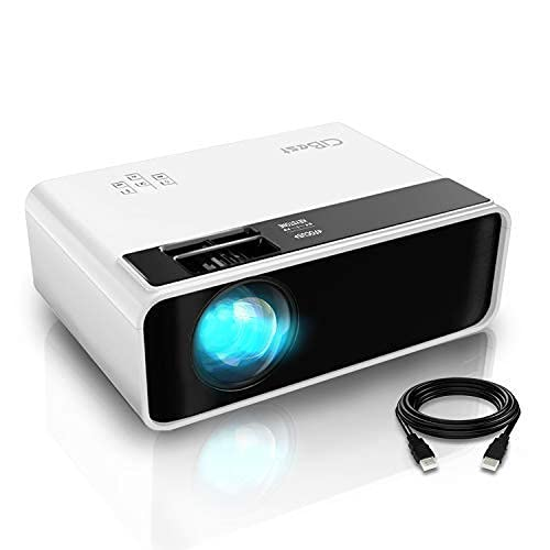 """Mini Projector, CiBest Video Projector Outdoor Movie Projector 4500L, LED Portable Home Theater Projector 1080P and 200"""" Supported, Compatible with PS4, PC via HDMI, VGA, TF, AV and USB…"""