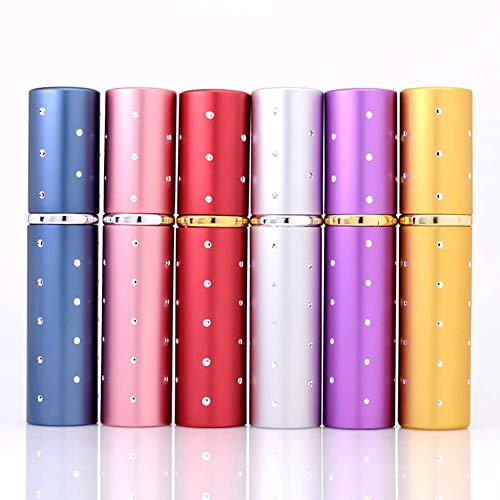 Steellwingsf - Botellas vacías portátiles y extraíbles, botella de perfume con pulverizador de viaje vacía, 5 ml, color rojo