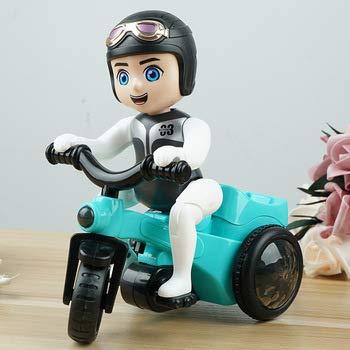 ML Motocicleta policia de Juguete, Triciclo Giratorio para niños