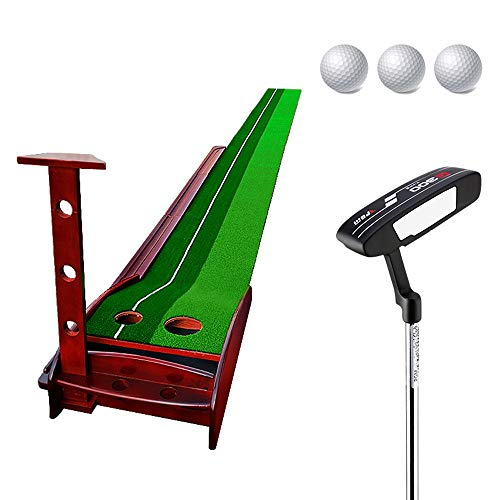 Great Features Of JHHXW Golf Putting Mats, Solid Wood Golf Practice Mat, Golf Mat, Indoor and Outdoor Golf Putter Exercise Mat, Golf Swing Mat (Color : 3.5m+Accessories)