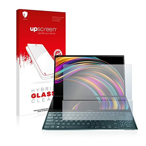 upscreen Hybrid Glass Panzerglas Schutzfolie kompatibel mit Asus ZenBook Duo UX481FL 9H Panzerglas-Folie