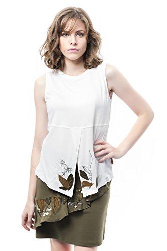 Mamatayoe Damen Almendro T-Shirt, Weiß (White 002), XL