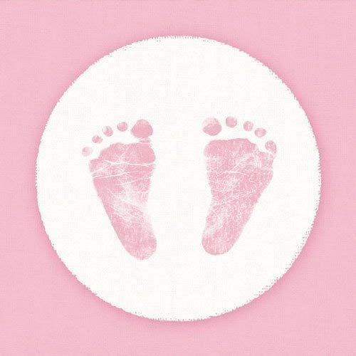 40 servetten roze baby meisjes doop tafeldecoratie servet deco party gedekte tafel