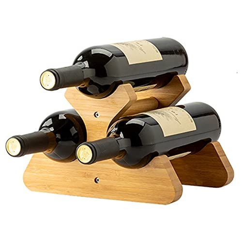 Estante para vino, soporte para botellas de vino, estante para almacenamiento de vino, mesa, mostrador para mostrador, soporte para vino, almacenamiento de 3/6 botellas, estante para vino de