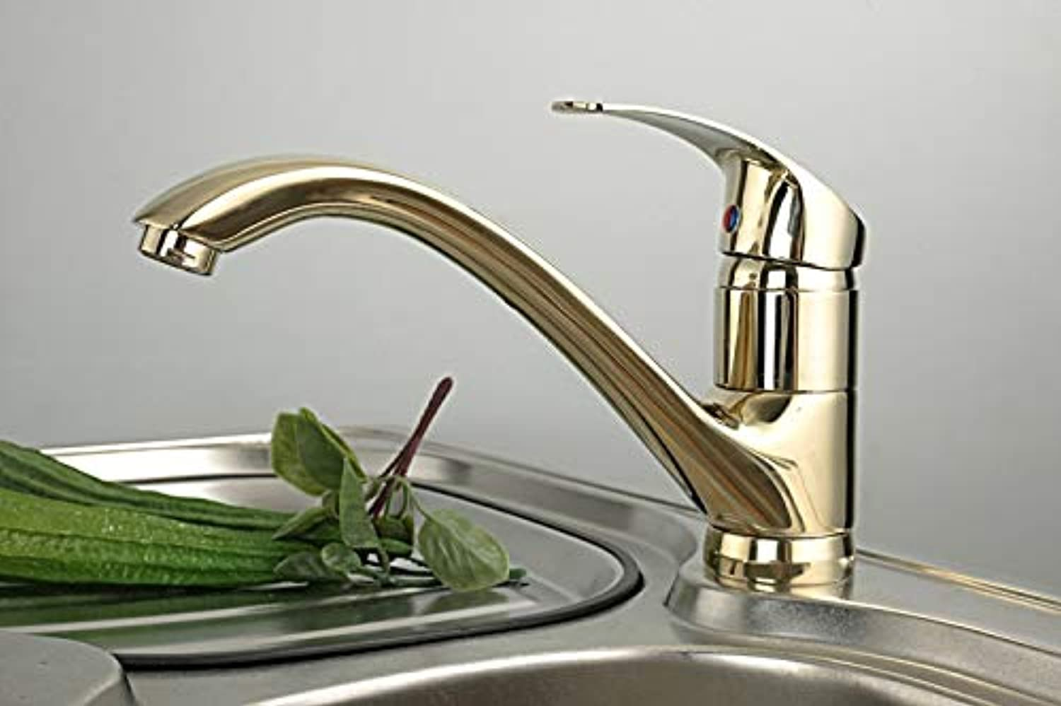 Decorry Luxury gold Polished Vegetables Taps Kitchen Sink Faucet Antique Copper Hot and Cold Water Mixer Kitchen Bathroom Faucets
