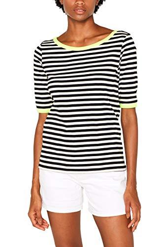 edc by ESPRIT Damen 069Cc1K066 T-Shirt, Weiß (Off White 110), Small (Herstellergröße:S)