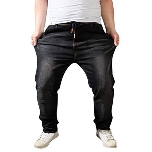 Bumen Classics Herren Sweathose in Jeansoptik Herren Sweatpants Jeans Herren Jeans - Sweathose in Jeansoptik - Slim Herbst-Winter Herren Jogginghose Trainingshose Sporthose Kordel-Taille