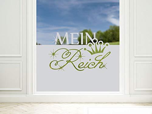 GRAZDesign Sichtschutzfolie Mein Reich, lichtdurchlässige/blickdichte Fensterfolie, Matte Deko, Glasdekorfolie / 80x57cm