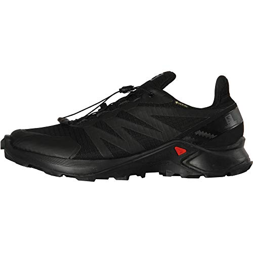 Salomon Men's Supercross GTX Trail Running, Black/Black/Black, 9.5