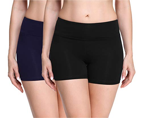 Merry Style Culote de Ciclismo Mallas Cortas Leggins Mujer 2Pack MS10-284(2Pack Negro/Azul...