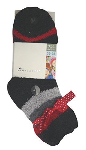 Sockswear KIDS Kuschel-Socken im Doppelpack rot 31-34