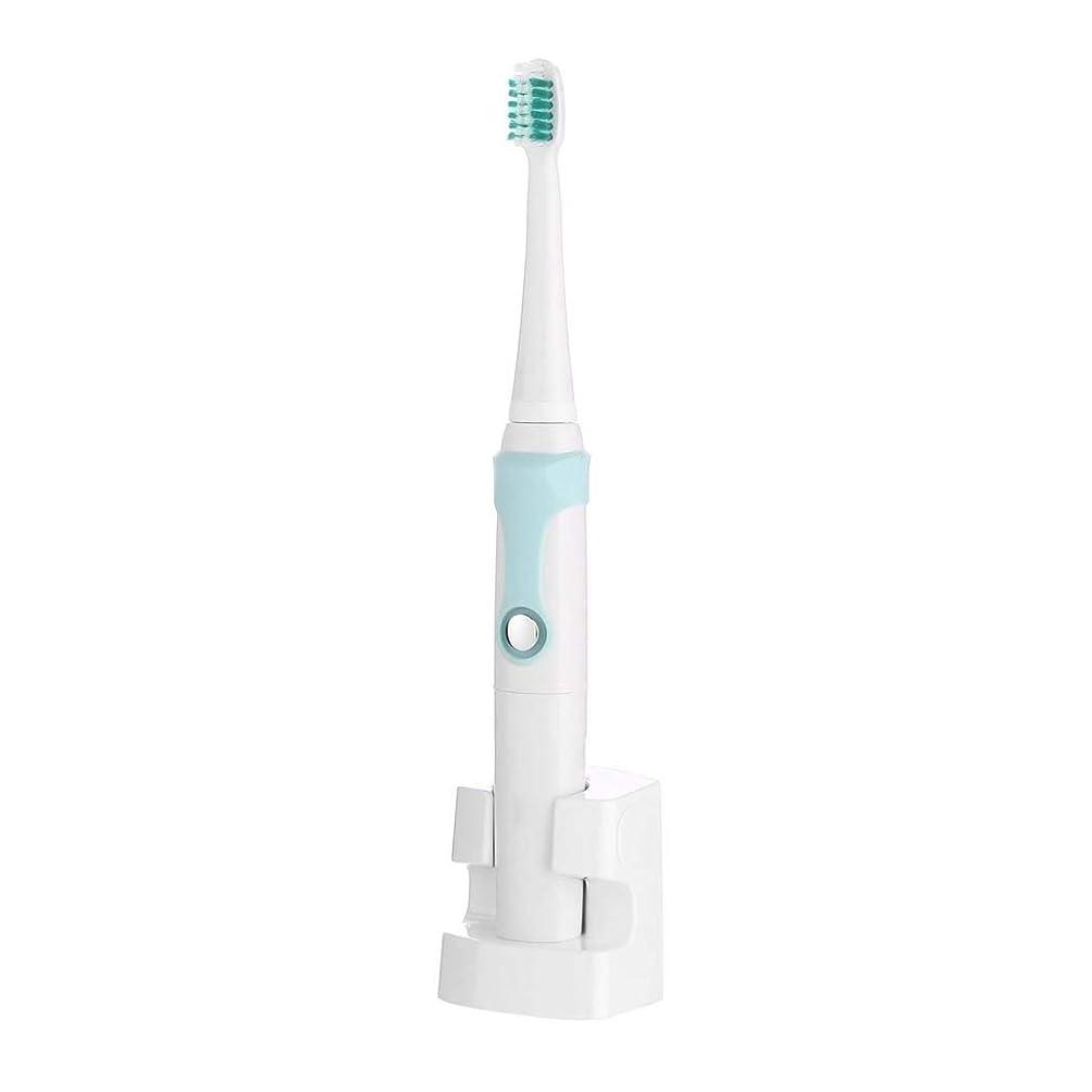 落ち着かない収まる誤解電動歯ブラシ、充電式超音波電動歯ブラシ、自動インテリジェント歯ブラシ、誘導充電、3つのブラッシングモード(カラー:ブルー)