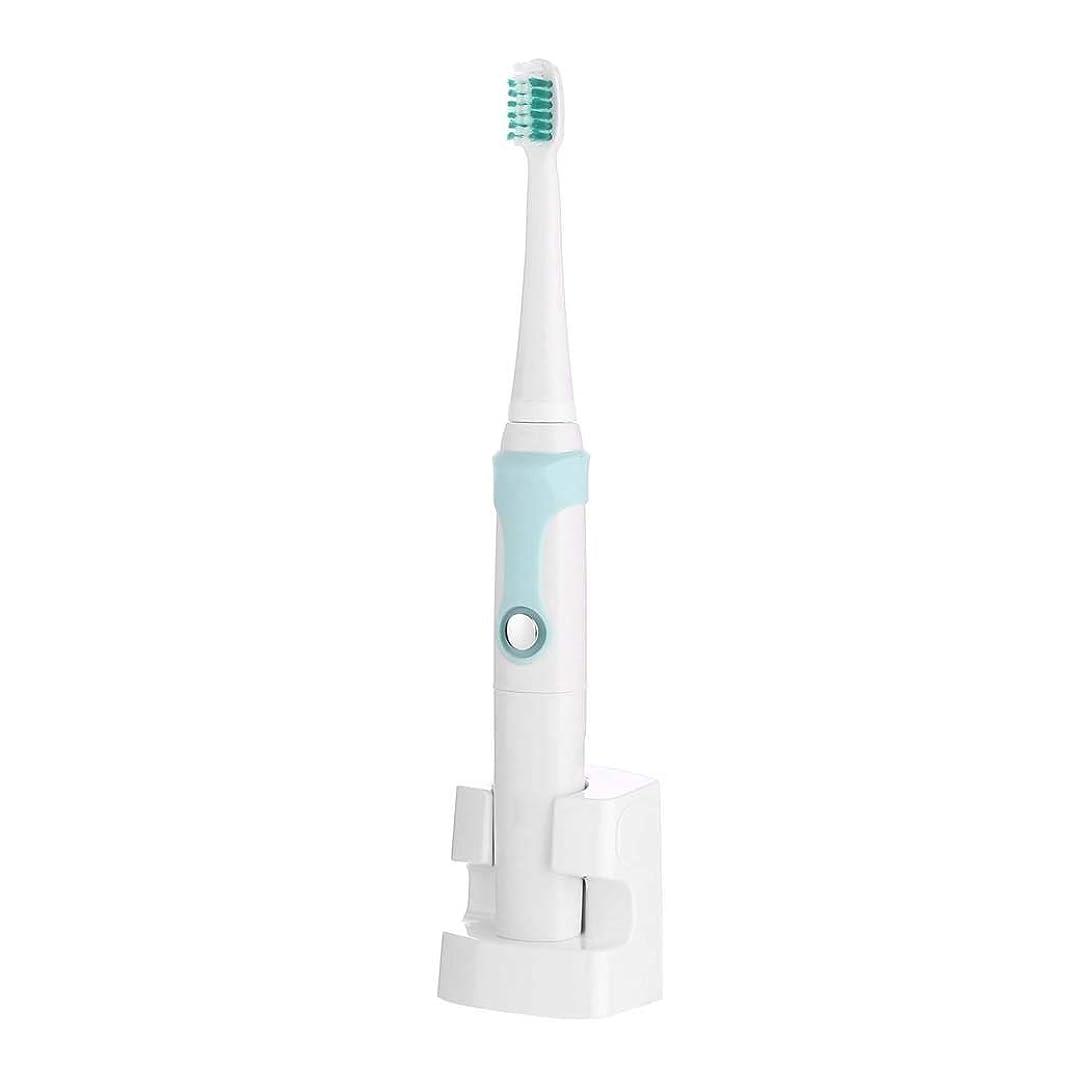 木曜日ライラック感嘆符電動歯ブラシ、充電式超音波電動歯ブラシ、自動インテリジェント歯ブラシ、誘導充電、3つのブラッシングモード(カラー:ブルー)