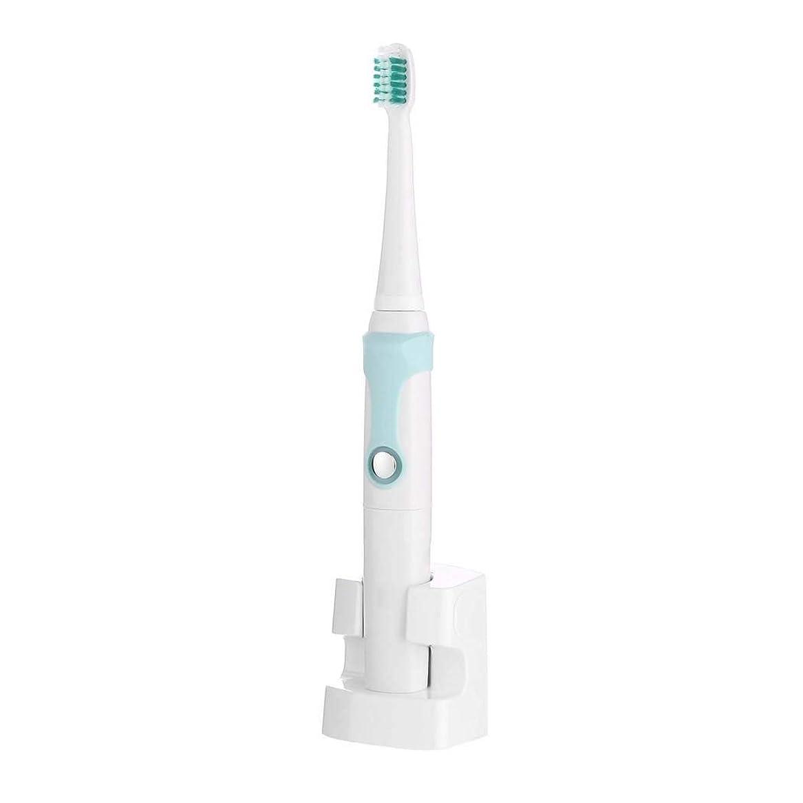 五自動化窒息させる電動歯ブラシ、充電式超音波電動歯ブラシ、自動インテリジェント歯ブラシ、誘導充電、3つのブラッシングモード(カラー:ブルー)