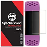[8-Pack] Spectre Shield Screen Protector for Fitbit Charge 4 or 3 Case Friendly Fitbit Charge 4 or 3 Screen Protector Accessory TPU Clear Film