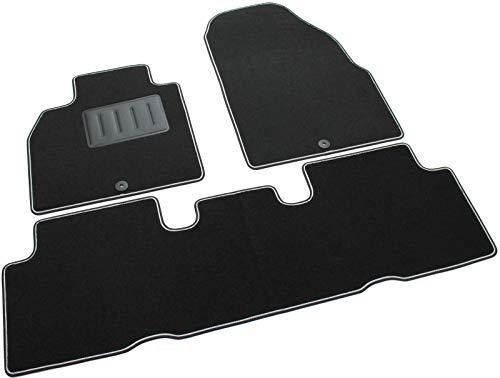 SPRINT03707 Alfombrillas de coche a medida en moqueta antideslizante negra
