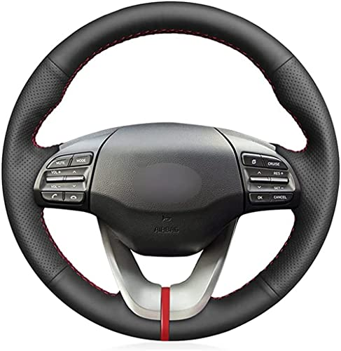 Funda para volante de coche de piel cosida a mano, para Hyundai...