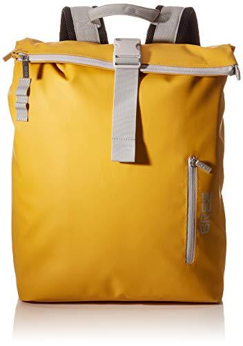 BREE Unisex-Erwachsene PNCH 713 backpack M Rucksack, Gelb (mayblob), 15x42x34 cm