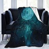 COFEIYISI Franela Manta para Cama Sofá Silla,Impresión de la Luna del Cosmos del Mundo Exterior del Espacio,Cálida,Cómoda Y Duradera 153x204cm