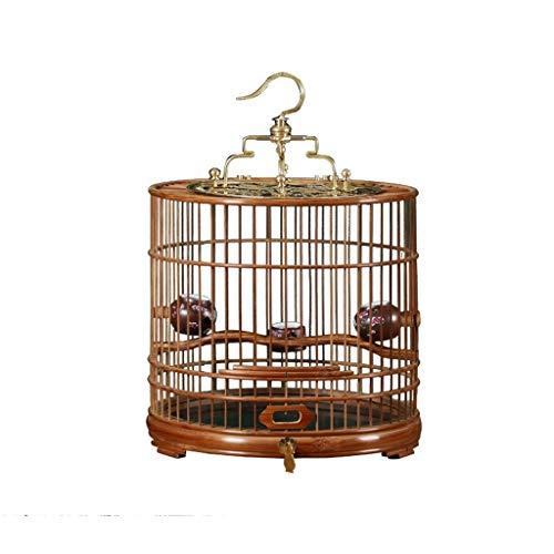KGDC Gabbia Voliera per Uccelli Portable Rotonda Bird Cage Facile da Montare, Traspirante Parrot Cage, Uccello portante della Gabbia di Viaggio for i Piccoli Uccelli, Vintage Birdcage Uccelli Gabbie