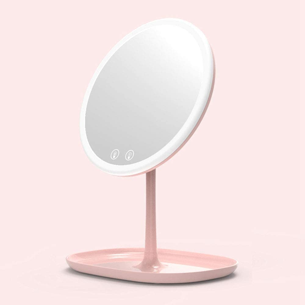 KXA Foldable Makeup Chicago Mall Mirror Vanity Dimmable LED wi Lights Indefinitely