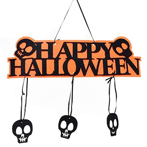 JIUJ Halloween-Dekorationen, Bar, Urlaub, Dekoration, kreative Filz-Buchstaben, Auflistungen, Hängeornamente, Kürbis-Buchstaben, Wanddekorationen, Festival-Atmosphäre, mehrfarbig