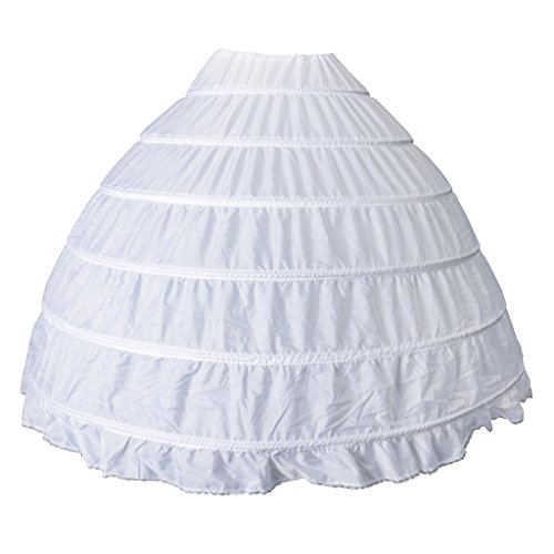 P Prettyia Brautkleid Reifrock Petticoat 6 hoops Brautkleid Unterrock petticoat Reifrock Petticoat Brautkleid Hochzeitskleid Reifrock krinoline...