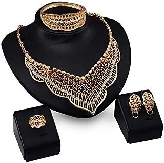 Mysmar Women's 10K Gold Plated Jewelry Set - AR1309