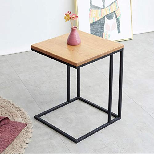 Mesa de Centro Café Mesa Auxiliar Mesa de café de madera maciza de roble mesa lateral pequeña esquina simple mesa auxiliar cuadrada mesa de la sala dormitorio Plancha Sofá Tablas Mesa de Refrigerios