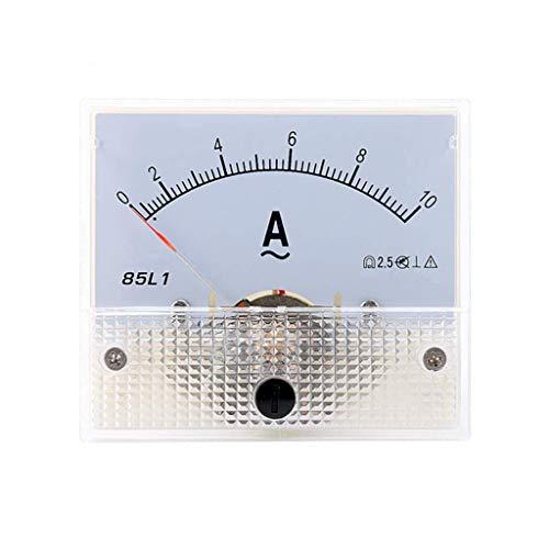 ZHOUMO 1-50A 85L1 AC Panel Meter Amperemeter Analog Panel Amperemeter Zifferblatt Stromanzeige Zeiger Amperemeter (10A)