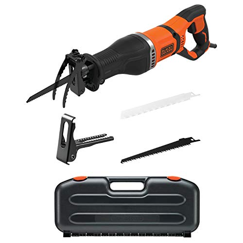 Black & Decker BES301K-QS Sierra de calar, negro/naranja
