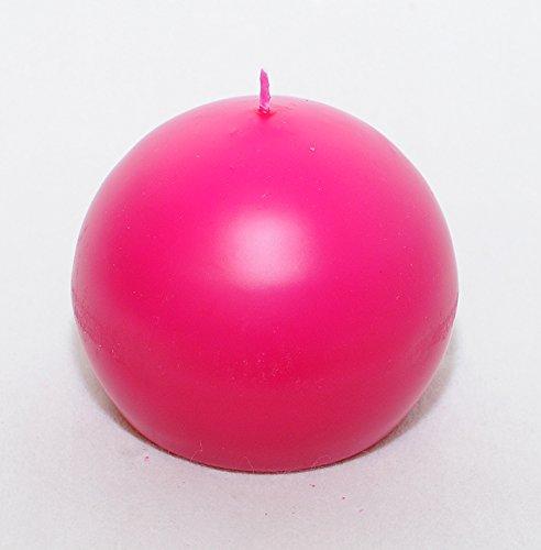 Bougie à boule diamètre 10 cm (fuchsia)