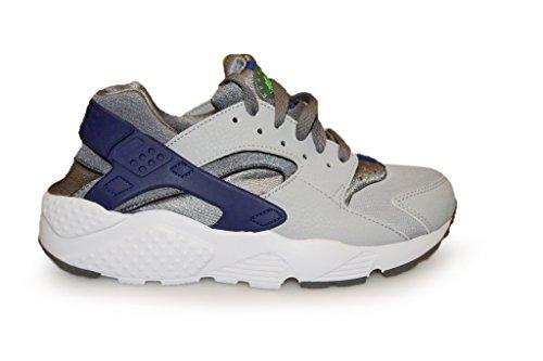 Nike Nike Jungen Huarache Run (GS) Laufschuhe, Grau/Grün (Cl Gry/Grn Strk-WLF Gry-Dp RYL), 38 EU
