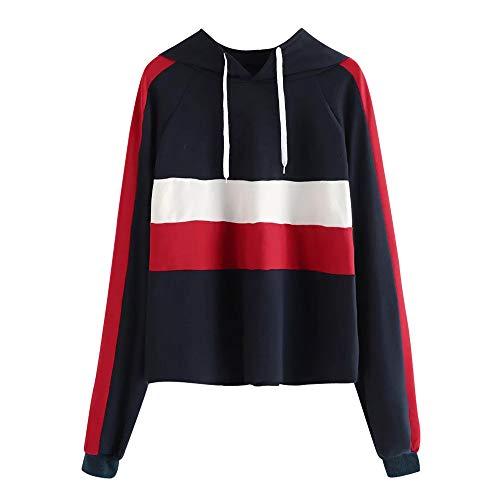 Deelin mode vrouwen color block patchwork capuchon Daily Sport casual lange mouwen hoodies sweatshirt top trui