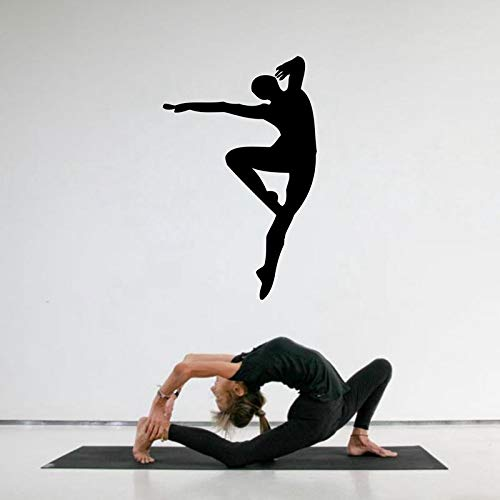 Sala de estudio de baile escuela, hombre bailando silueta vinilo arte de la pared decoración del hogar calcomanía adhesivo A4 56x38 cm