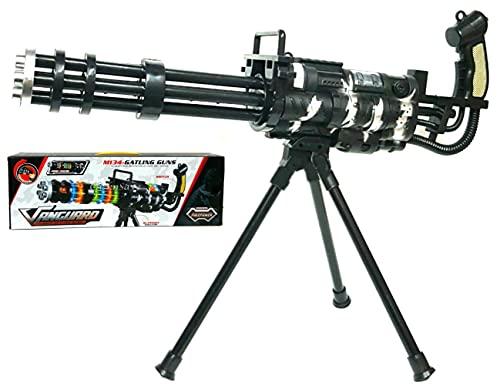 VENTURA TRADING M134 Ametralladora de Juguete Pistola de Juguete con Sonido y Luces Rifle Soldado Ejército Pistola de Juguete con Sonido y Luces