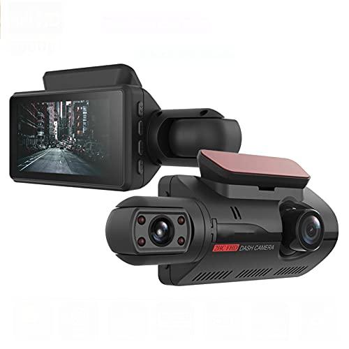 Cámara De Salpicadero DVR Para Coche De Doble Lente Full HD 1080P Pantalla De 3,0 Pulgadas Super Visión Nocturna Dashcam G-Sensor WDR Video Recorder Car Cam