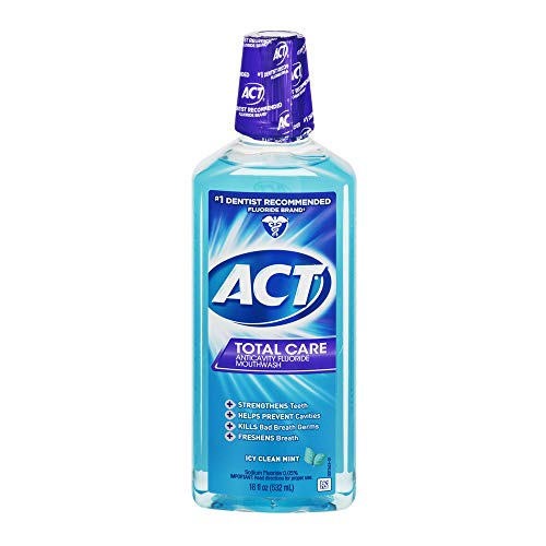 ACT Atto Tc Cln Mnt Mthwash Dimensioni 18Z Act Total Care Icy Clean collutorio alla menta (2 pezzi)