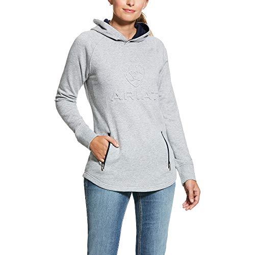 ARIAT Women's 3D Hoodie Heather Grey Size XL