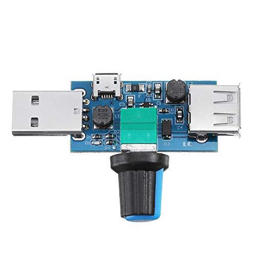 Modulo electronico USB mini ventilador de velocidad ajustable Módulo de la velocidad del viento gobernador de refrigeración del ordenador 10pcs Mute