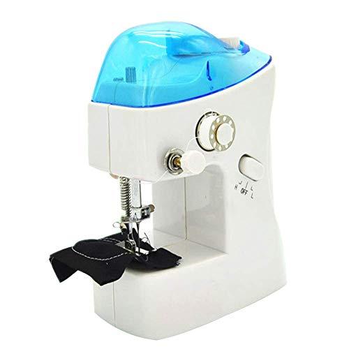 ZXL Mini-naaimachine, draagbaar, kleine naaimachine, multifunctioneel, draagbaar, compact en licht, naaimachine, elektrisch, voor beginners met