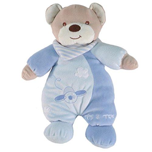Tris&Ton Peluche osito infantil bebé niño niña, oso peluche mimos azul suave felpa modelo Mimos (Trisyton)